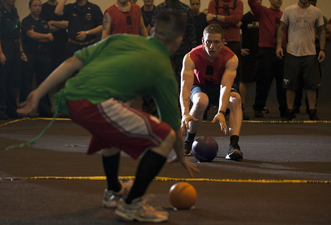 The dodgeball tournament is an annual event hosted by student government.
