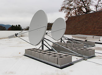 New satellite dishes allows UCC's Centerstage to stream London's National Theatre productions.