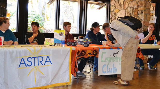 The Club Fair hosted by ASUCC Student Leadership Team provided information about club activities.