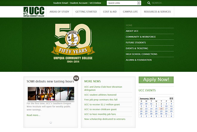 UCC's new website features a more modern look and easier navigation.