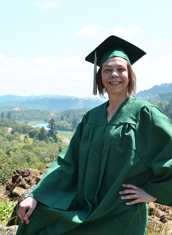 Success started around a campfire for 2014 graduate Ursula Angel.
